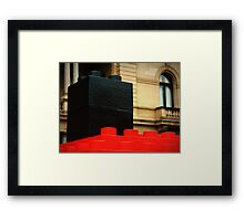 basic blocks of classic architecture Framed Print