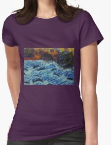 Dolphins under storm clouds Womens Fitted T-Shirt