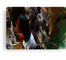 Abstract paintings of group of persons Canvas Print