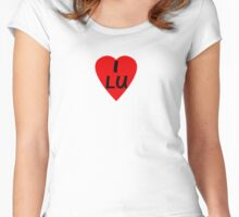 I Love Luxembourg - Country Code LU T-Shirt & Sticker Women's Fitted Scoop T-Shirt