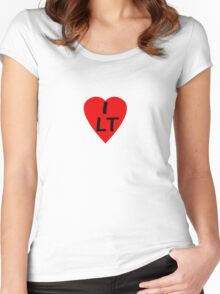 I Love Lithuania - Country Code LT T-Shirt & Sticker Women's Fitted Scoop T-Shirt