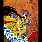 Japanese Woman - Autumn by Saing Louis