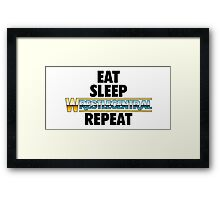 Wrestle Central - Repeat Framed Print