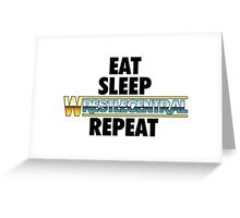 Wrestle Central - Repeat Greeting Card