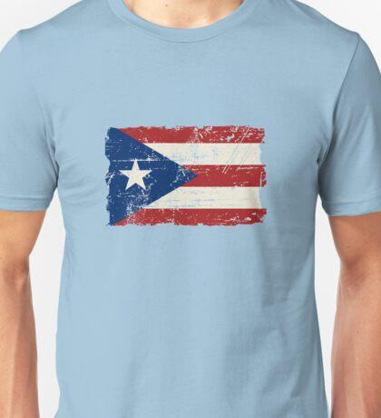 Puerto Rico Flag - Vintage Look Unisex T-Shirt