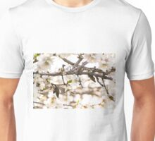 Bee sampling blossoms on a tree Unisex T-Shirt