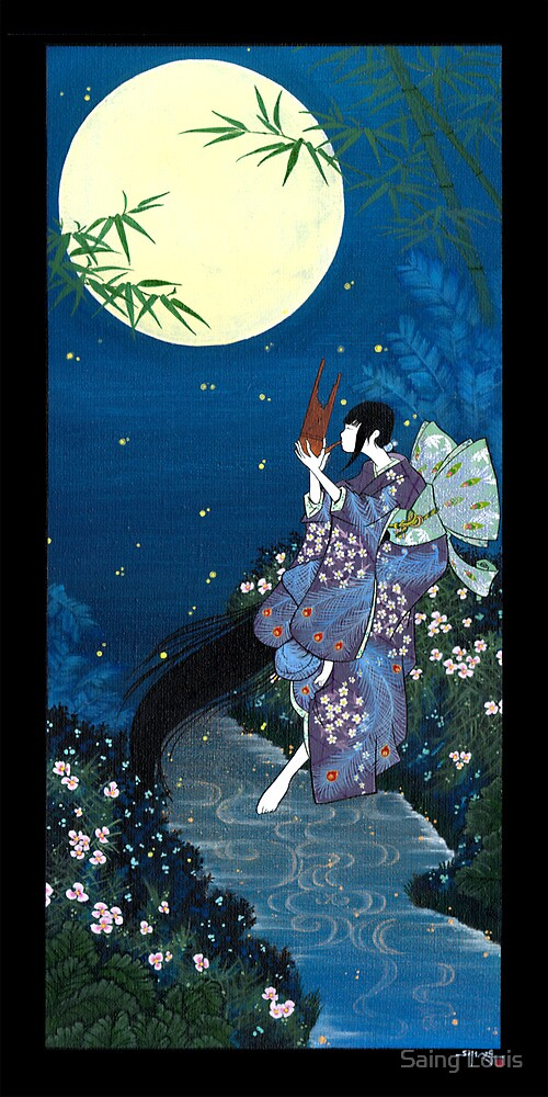 Japanese Woman - Summer by Saing Louis