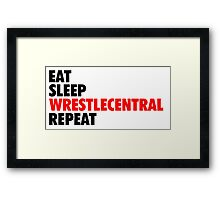 Wrestle Central - Repeat - 2 Framed Print