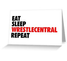 Wrestle Central - Repeat - 2 Greeting Card