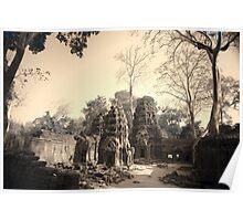 Ta Phrom Temple, Siem Reap Poster