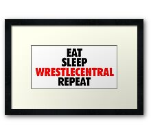 Wrestle Central - Repeat - 3 Framed Print