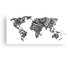 World map mandala Canvas Print