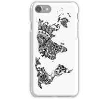 World map mandala iPhone Case/Skin