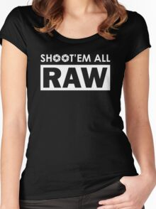 Shoot'em all RAW Women's Fitted Scoop T-Shirt
