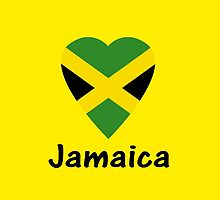 I Love Jamaica - Country Code JM T-Shirt & Sticker by deanworld