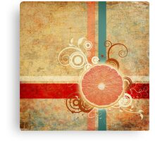 Slice of Citrus Abstract Canvas Print