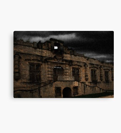 Bolsover Castle Ballroom in The Rain Canvas Print