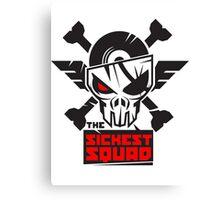 The Sickest Squad B&W Logo Canvas Print