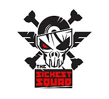The Sickest Squad B&W Logo Photographic Print