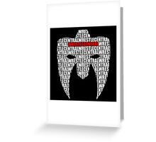 Wrestle Central - Mask Greeting Card