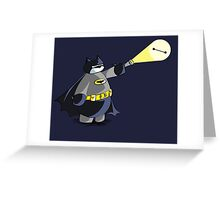 Batmax! Baymax Gotham City's Watchman Greeting Card