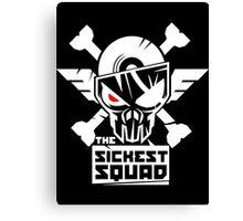 The Sickest Squad W&B Logo Canvas Print