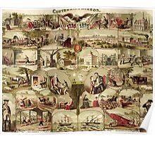 Poster 1870s Centennial mirror 1776−1876 USSR Poster