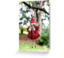Grungy Santa Greeting Card