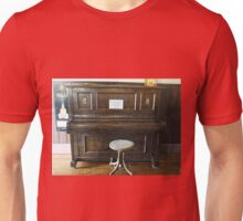 Upright Piano at the Greendale Hotel Unisex T-Shirt