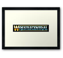 Wrestle Central - Logo Framed Print