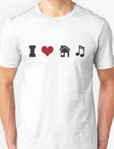 I Heart House Music  Unisex T-Shirt