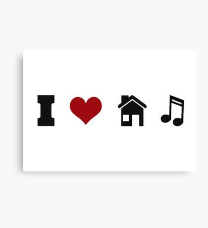 I Heart House Music  Canvas Print