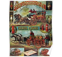 Posters 1880s Fire Extinguisher Mfg Co advertising poster ca 1890 USSR Poster