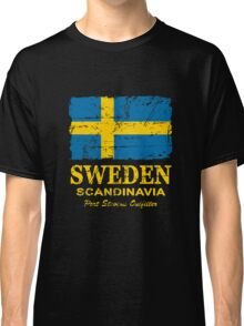 Sweden Flag - Vintage Look Classic T-Shirt