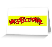 Wrestle Central - Yellow Greeting Card
