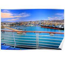 Málaga Harbour Poster