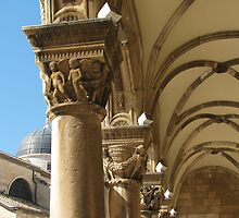 Capitals of Rector's Palace by Elena Skvortsova