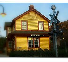 Santa Susan Train Depot  by lynell