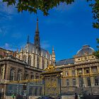 France. Paris. Sainte-Chapelle and Palace of Justice. by vadim19