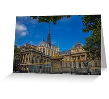 France. Paris. Sainte-Chapelle and Palace of Justice. Greeting Card