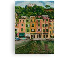Colorful Portofino Canvas Print