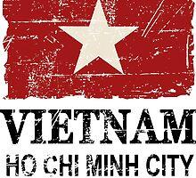 Vietnam Flag - Vintage Look by Port-Stevens