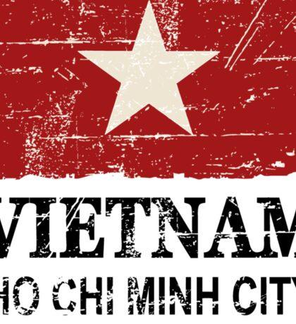Vietnam Flag - Vintage Look Sticker