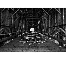 Honey Run covered bridge Chico California Photographic Print
