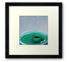 Leaky green Framed Print
