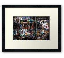 Technicolor Tram Framed Print