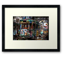 Technicolor Tram Framed Print