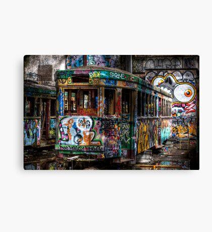 Technicolor Tram Canvas Print