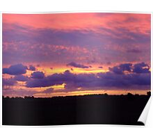 red sky in morning...... Poster