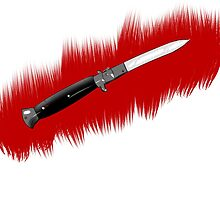 Bloody switchblade knife by Simon98